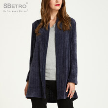 SBetro By Suzanne Betro Chenille Sweater Womens Coats Long Sleeve Casual Autumn Ladies Coat Cardigan Sweaters Plus size XXXL(China)