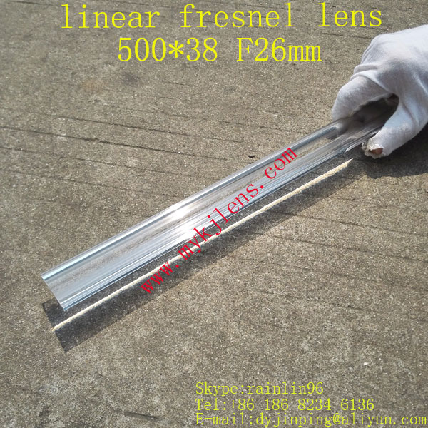 500*38mmF26mm linear fresnel lens for solar energy free shipping, focal is a line,small focus free shipping 400 300 f600 fresnel lens for diy projector condenser lens supports custom