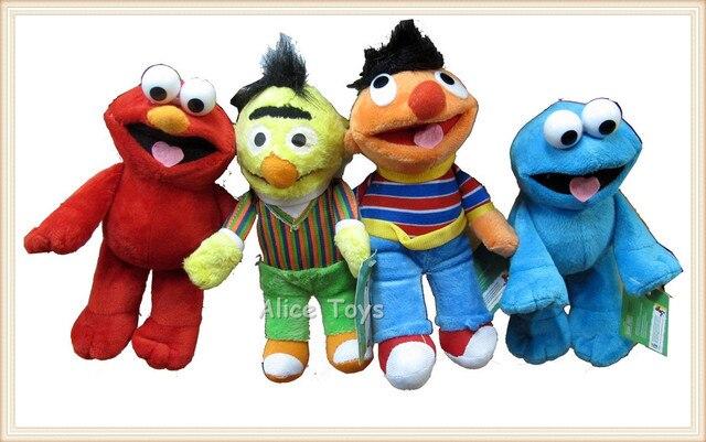 Sesame Street Elmo Cookie Monster Bert Erine Plust Toy Doll Figure Set of 4pc 20cm Height
