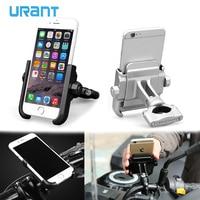 URANT Universal Aluminum Alloy Motorcycle Phone Holder For iPhoneX 8 Support Telephone Moto Holder For GPS Bike Handlebar Holder