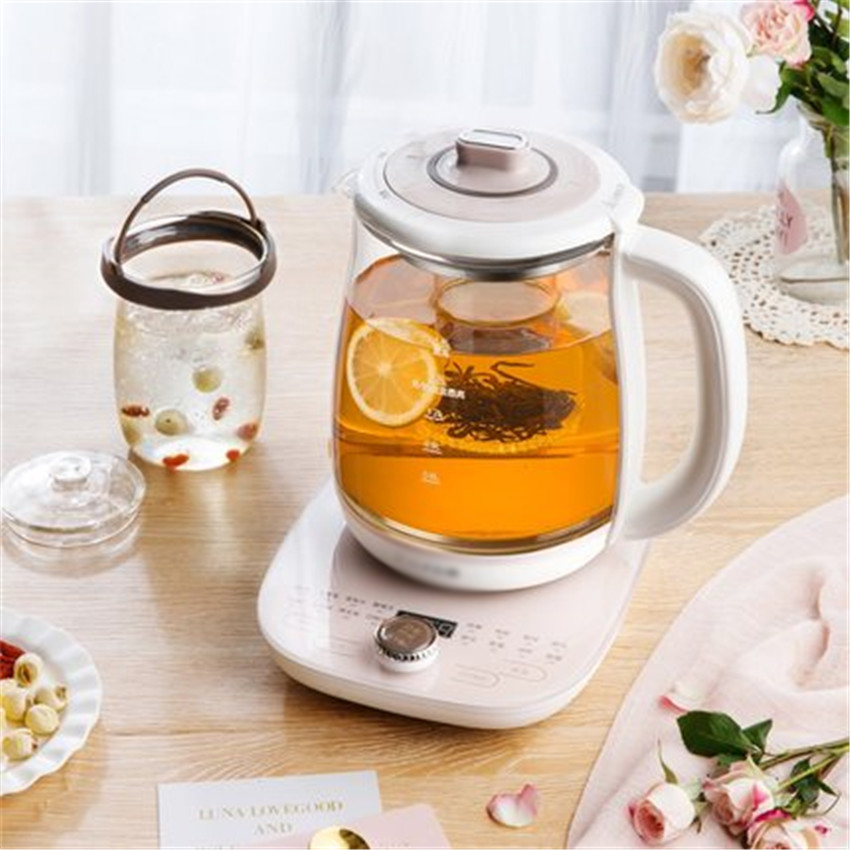 YSH-C18S2 Electric kettle with glass thickness polymerization automatic temperature control pot 1000W Power Food grade glass220VYSH-C18S2 Electric kettle with glass thickness polymerization automatic temperature control pot 1000W Power Food grade glass220V