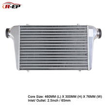 цена на R-EP Intercooler Universal 460x300x76mm Aluminum Cold Air Intake Radiator 2.5inch Inlet 65mm Outlet for Turbo Car