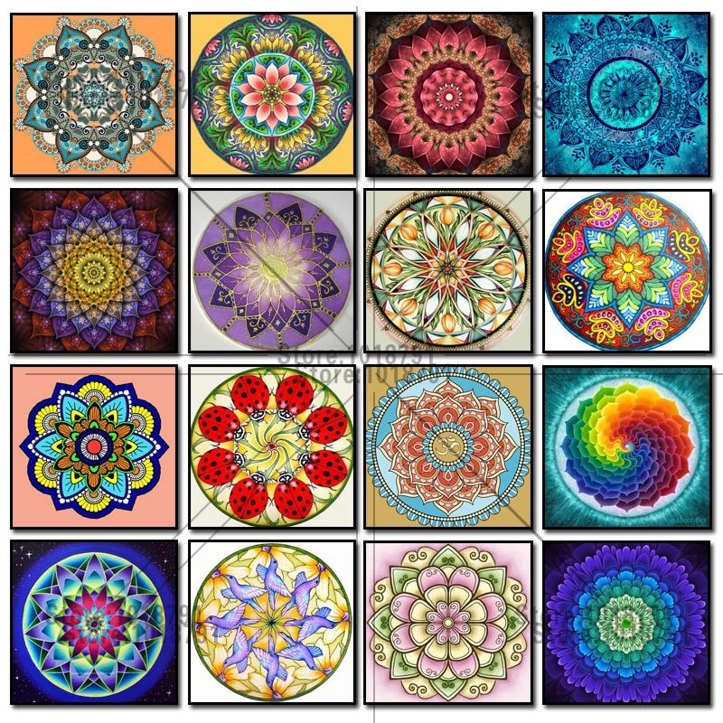 5D Diamond Painting Color mandala Cross Stitch Kit Diamonds Embroidery Square Drill Diamond Mosaic Home Decoration