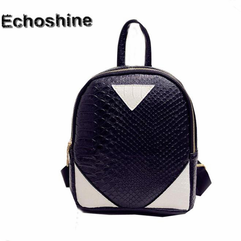 a1d9259a54 Fashion mini Women backpack PU Leather Rucksack lady girl School Bag  concise Serpentine pattern Backpacks gift wholesale A0000-in Backpacks from  Luggage ...
