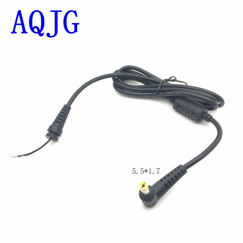 1.2m DC 5.5 x 1.7 Power Supply Plug <font><b>Connector</b></font> With Cord / <font><b>Cable</b></font> For Acer Laptop Adapter <font><b>5.5mm</b></font> x 1.7mm DC Plug Power <font><b>cable</b></font> Cord image