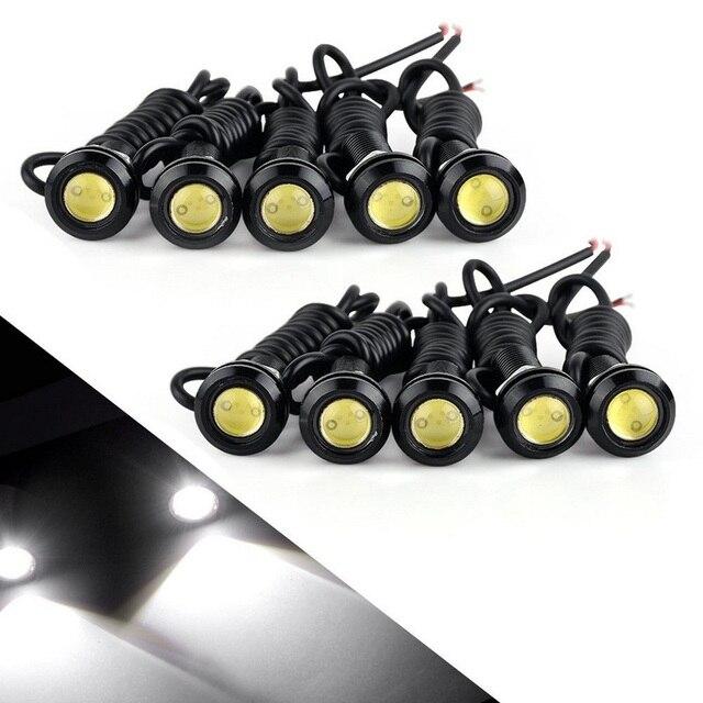 10PCS 23MM Car Led Eagle Eye Light DRL Daytime Running Lights LED 12V Backup Reversing Parking Signal Automobiles Lamps DRL