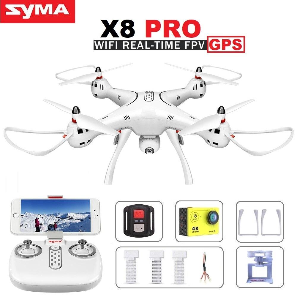 SYMA X8 Pro X8PRO GPS RC DRONE FPV Quadcopter Avec 720 p WiFi HD Caméra Professionnel Dron Hélicoptère VS SYMA x8 X8HG MJX Bugs 3