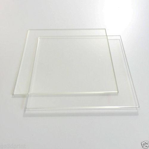 200mm x 200mm plaque de verre Borosilicate plat bord poli pour MK2 MK3 2 Pack