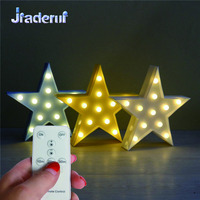 Jiaderui LED Star Shap Baby 3D Night Light With Controller Cute Creative Lights For Childrens Bedroom