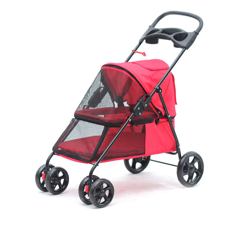 Aliexpress.com : Buy Four Wheel Small Pet Stroller Carrier for Little Dog and Cats Super Light