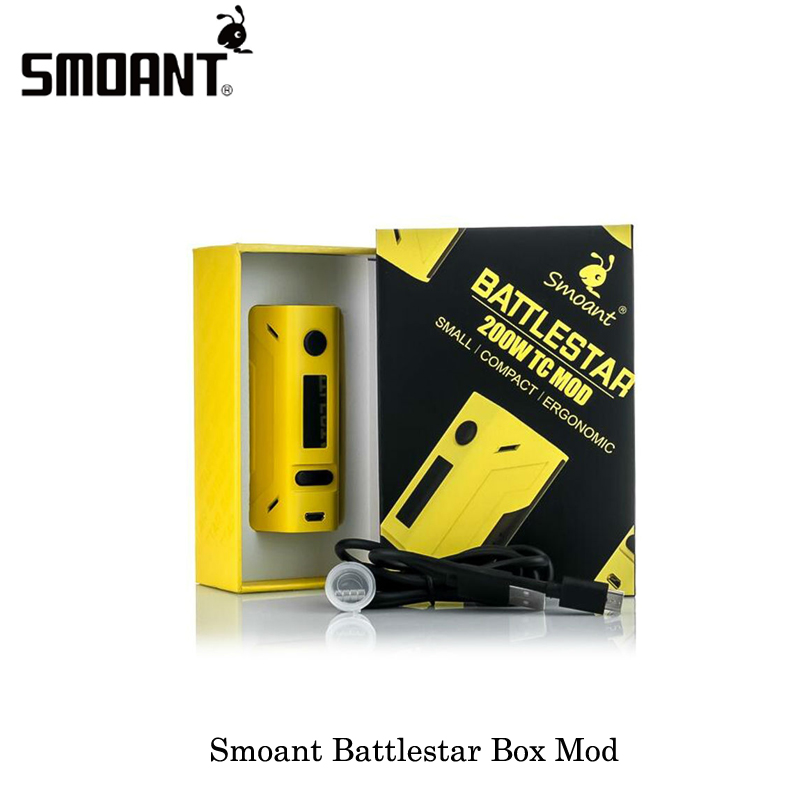все цены на NEW Original Smoant Battlestar TC 200W Box MOD Spring loaded 510 pins/SS connector 25mm for Electronic Cigarettes Vaporizer Tank