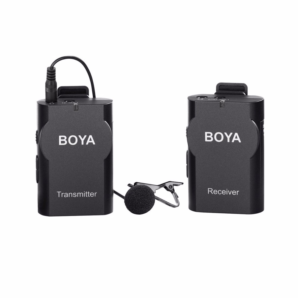 boya by wm4 professional wireless microphone system lavalier lapel dslr camera camcorder mic for. Black Bedroom Furniture Sets. Home Design Ideas