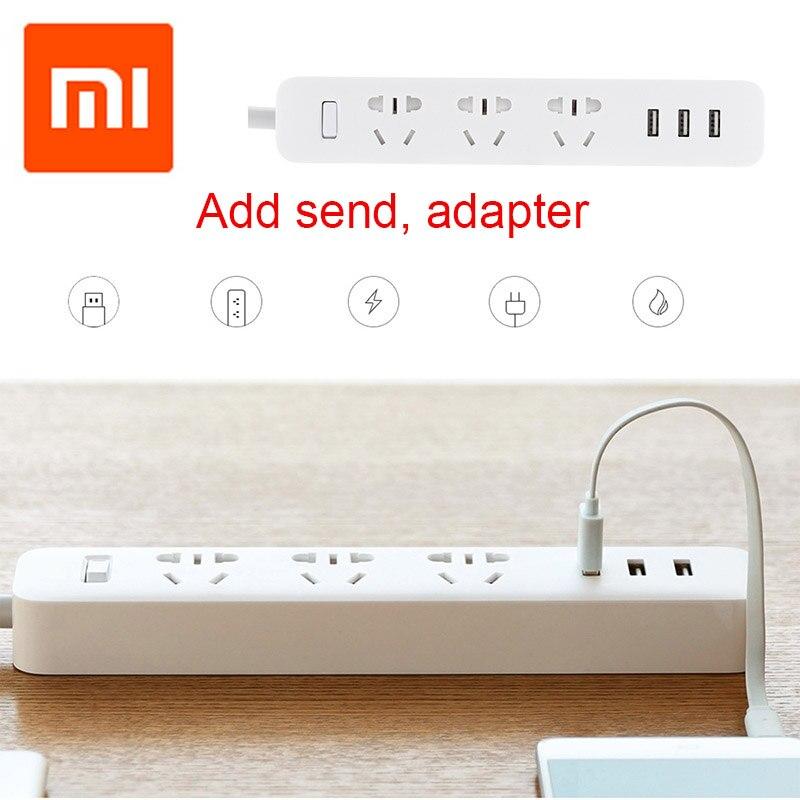 Original pour Xiaomi Smart Power Socket Adapte 3 USB Extension Socketr Chargeur Plug pour Smart Home Electronics