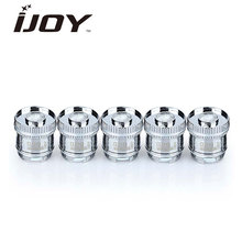 Original 5pcs IJOY Reaper Replacement Dual Coils 0.5ohm/0.6ohm Made of Organic Cotton Material Good Flavor for Reaper RBA Tank