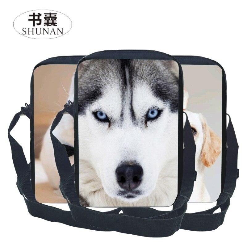 2017 New Style Men Satchel Oxford Printing Animal Wolf Children Messenger Bag Animal Kids School Bags for Teenagers Boys Handbag