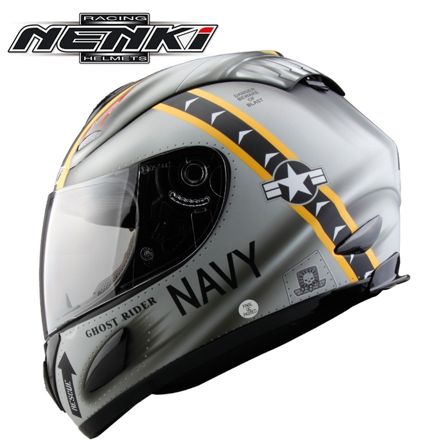 цена на Free shipping 1pcs NENKI Motorcycle Helmet DOT Motocross Helmets Off Road Full Face Racing Helmet with Clear Lens
