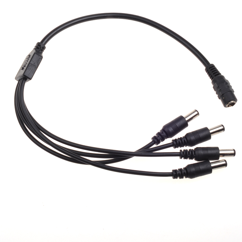 5.5mm/2.1mm 1 To 4 DC Power Supply Splitter Cable(1 Female To 4 Male Plug ) Cctv Cable For CCTV Cameras