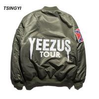 Thicken Men Ma1 Bomber Kanye West Yeezus Pablo Harajuku Pilot Air Force Flight Jacket Hip Hop