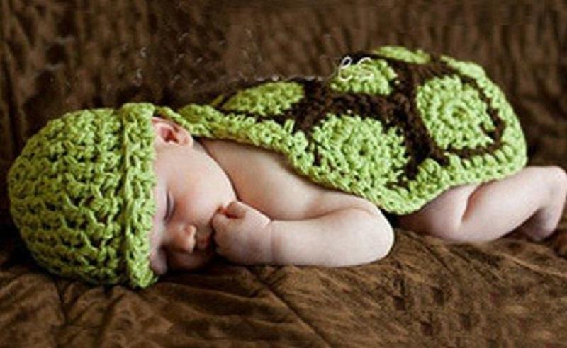 2018 кролик шляпу ручной работы крючком наряд для фотосессий вязаная крючком Дети костюм детский наряд маленькая черепаха милые теплые шапки...