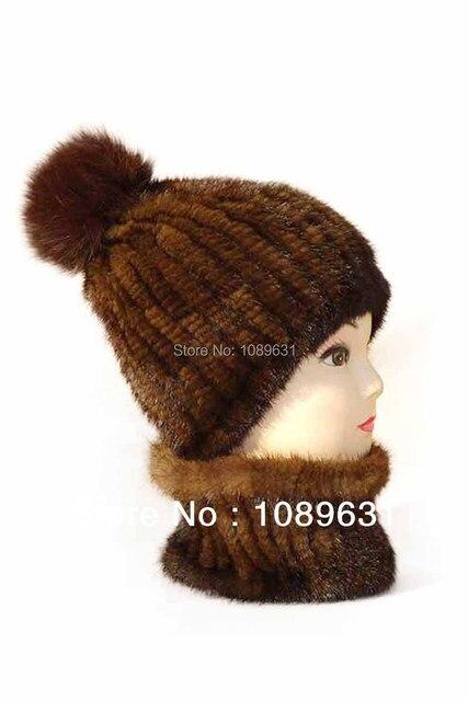 Fashion fur hats Female warm mink knit hat Korea quality fur hat