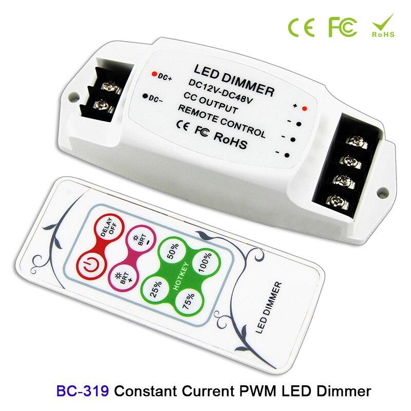 BC-319 DC12V-48V 350mA/700mA/1050mA/2400mA CC PWM LED Dimmer with RF remote LED dimmer controller for led panel light