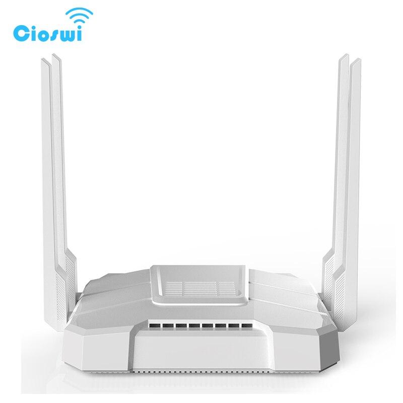 5G Gigabit sans fil 3g 4g lte wifi routeur 11AC double bande 1200 Mbps openWRT routeur 512 M GSM routeurs avec fente pour carte sim we1326-bkc