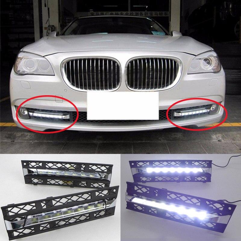2PCs / set LED Daytime Running Lights DRL Fog For BMW 7 Series F01 F02 730i/740i/750i/760i 2009-2013 Quality Assured Wholesale в гомеле bmw 750i е38