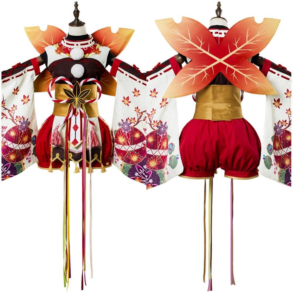 Lovelive Cosplay Kanan Matsuura Aqours Maple Leafs Ver Kimono Cosplay Costume Suit Outfit Halloween Costume