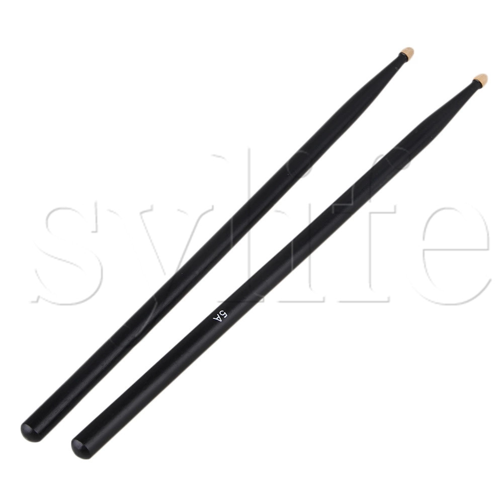 A Pair Lightweight Music Band Black Natural Maple Wood 5A Drum Stick Drumstick