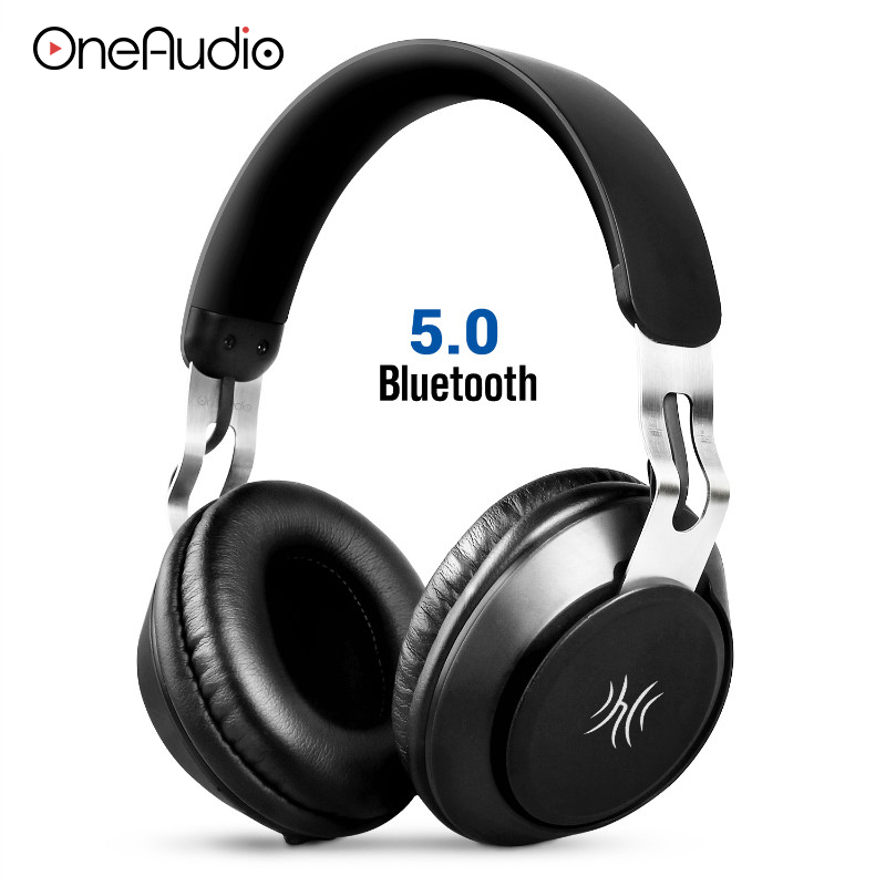 OneAudio Stereo Bluetooth 5 0 Headphone Portable Wireless Handsfree Music Headset With Mic Over Ear Earphone