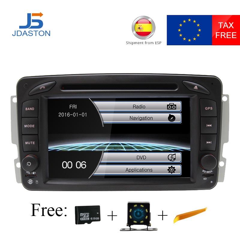 Autoradio JDASTON HD 1080 P 2 Din pour Mercedes Benz CLK W209 W203 W168 W208 W463 W170 Vaneo Viano Vito lecteur DVD multimédia de voiture