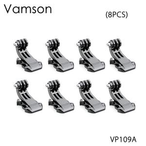 Image 1 - Vamson ل Gopro اكسسوارات 8 قطعة J هوك جبل مشبك العمودي محول ل GoPro بطل 5 4 3 + ل SJCAM ل يي كاميرا VP109A
