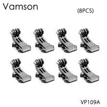 Vamson accesorios para Gopro, 8 Uds. De hebilla de montaje de gancho J, adaptador Vertical para cámara GoPro Hero 5 4 3 + para SJCAM para Yi VP109A