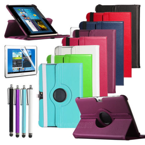Case Cover For Tablet Samsung Galaxy Note 10.1 N8000 N8010 N8013 Rotating PU Leather Case Screen Protector Film Free Shipping tablet case for samsung galaxy note 10 1 n8000 n8005 n8010 n8013 case cover couqe hulle funda shell custodie