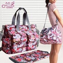 Envío gratis Nuevo diseño del bebé bolsas de pañales para mamá bebé viajes nappy bolsos Bebe cochecito organizador bolsa para la maternidad