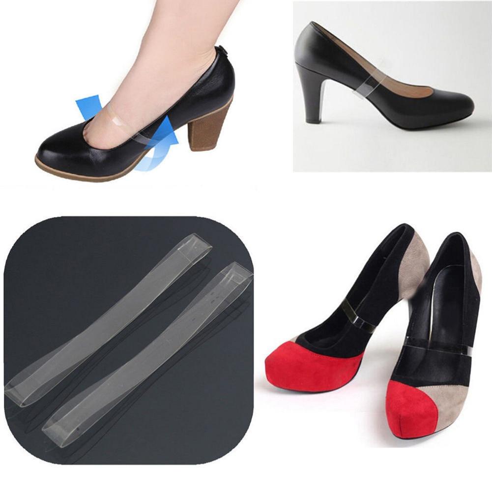 1Pair Detacheable Women High Heel Shoes Elasticated Strap Transparent Shoelace