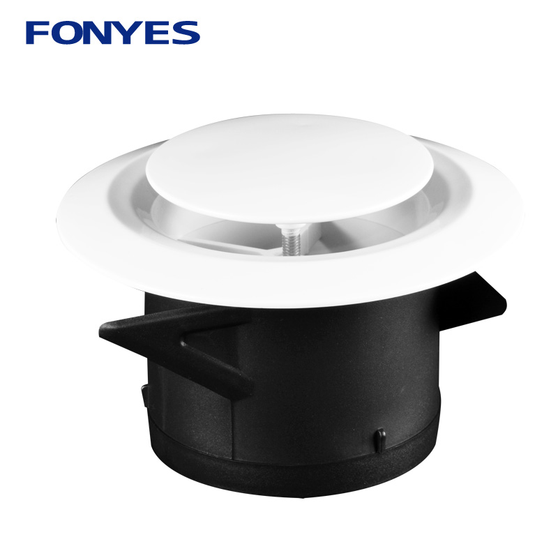 3/4/6 Inch Plastic Air Vent Cover Bathroom Wall Ceiling Exhaust Pipe Ventilation Grille For Round Duct 75/100/150mm