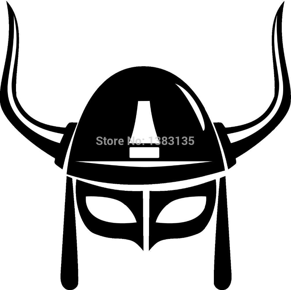 Wholesale 50 pcs/lot Big Giant Viking Helmet Car Sticker For Truck Window Bumper SUV Door Laptop Kayak Vinyl Decal 8 Colors