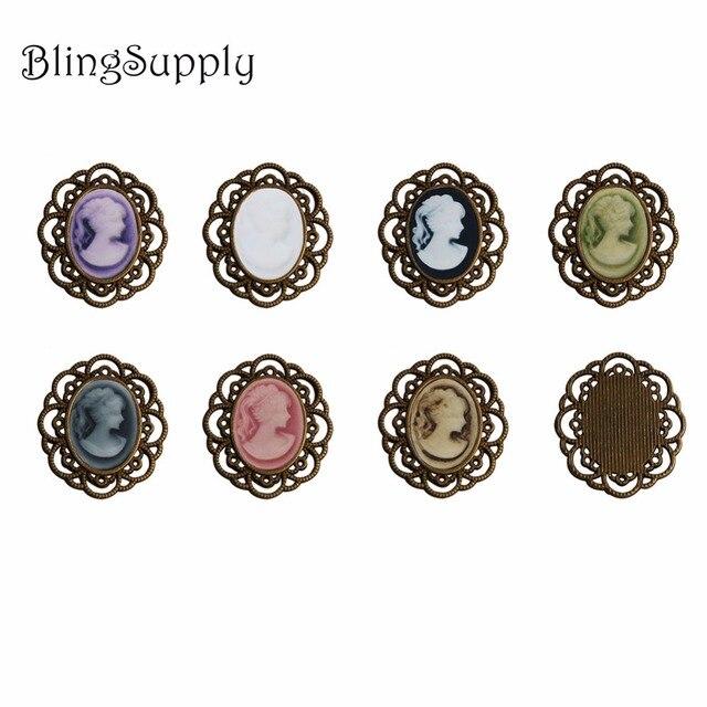 סגלגל קמיע מתכת כפתור flatback יכול לבחור צבעים 100 יח\חבילה (BTN 5658)button flatbackmetal buttonsbuttons buttons