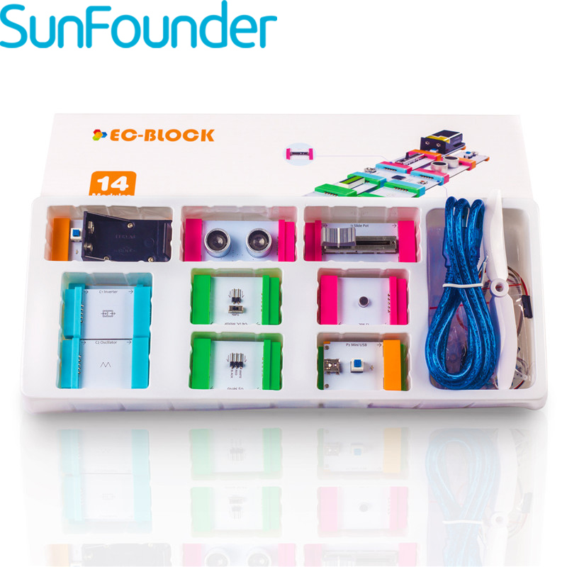SunFounder Electronics Educational Building Magneic Blocks Learning Block Kit for Arduino Kids Children Building Blocks Toys phagan learning electronics –theory