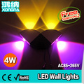 Free Shipping AC110/220V 4W LED Wall Lights for Home/KTV/Bar/Store, Bedside Aisle Wall Lamp Different Light Colors