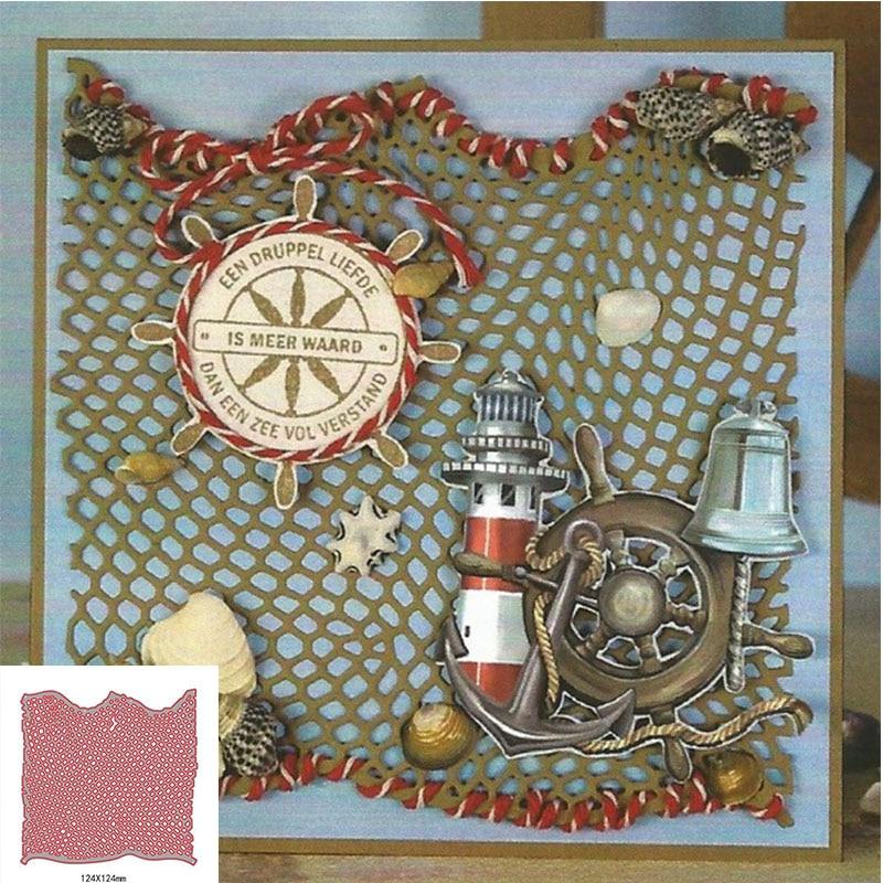 Fishing Net Metal Cutting Dies Stencils For Card Making ...
