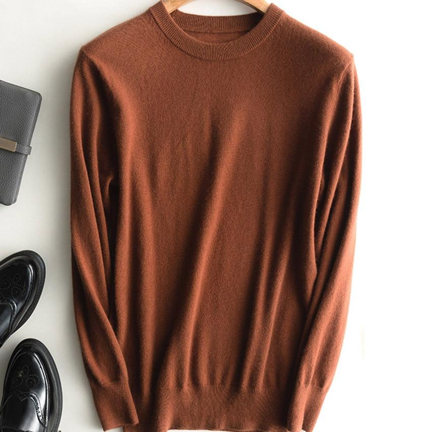 Homens Jumpers 100% Cashmere e Lã Camisola de Malha Venda Quente Homem Pullover Oneck 12 Cores de Alta Qualidade Padrão de Lã Roupas top
