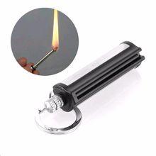 Металлические перманентные спички Striker прямоугольные кремневые каменные зажигалки для сигарет брелок мгновенный аварийный стартер для огня Matchstick