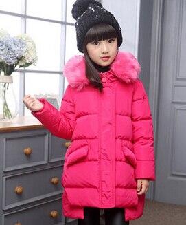 YENI 2017 kış kürk yaka çocuk aşağı ceket ceket kız çocuklar ördek aşağı kış ördek aşağı pakras düzensiz tasarımlar dış giyim
