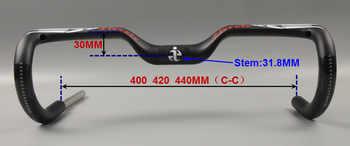 ievele New 2017 full Carbon Fiber Road Bicycle Handlebar Highway Handle Bars Carbon road Handlebar matte 400/420/440mm