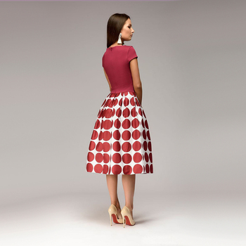 Women Dot Print Summer 2018 Casual Dress 5