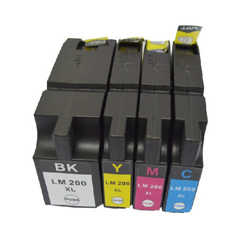 8 PCS 2 SET LM200 LM200XL LM 200 200XL compatible Ink cartridges for Lexmark OfficeEdge Pro4000c Pro4000 Pro5500 Printer