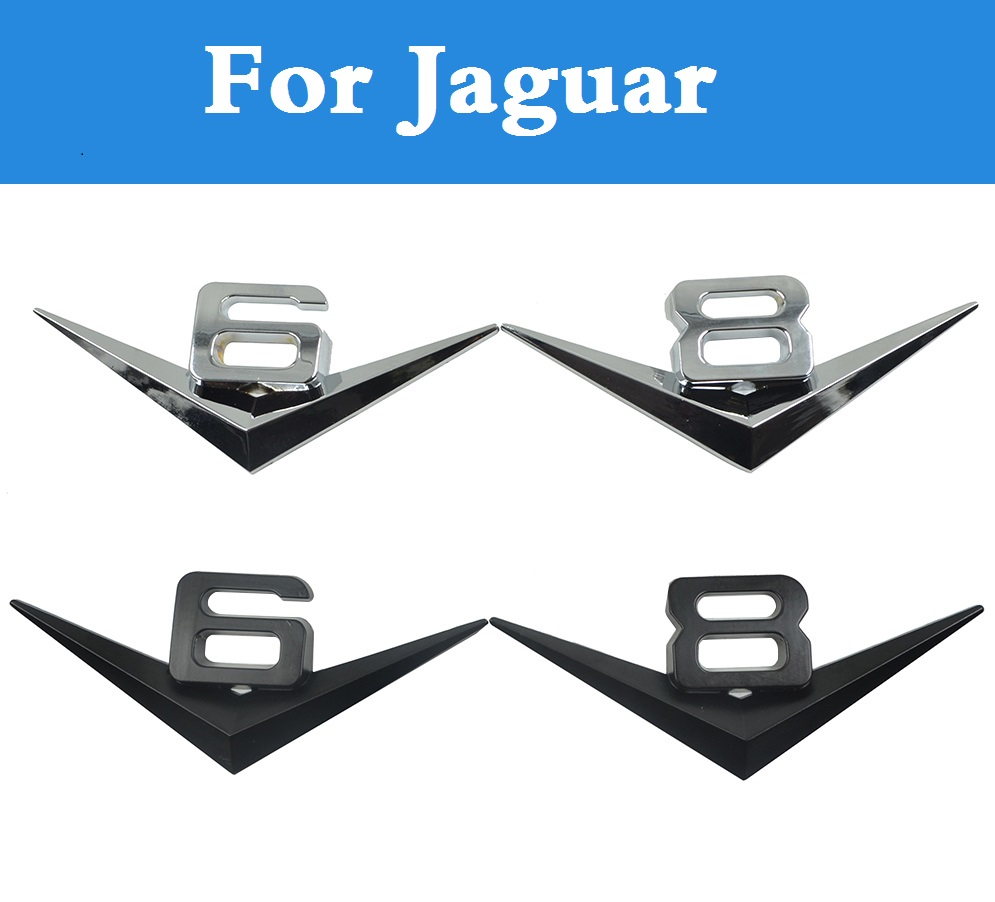 R-S RS R S Chrome Emblem Logo Badge Sticker for Jaguar XF XFR XK XKR F-Type