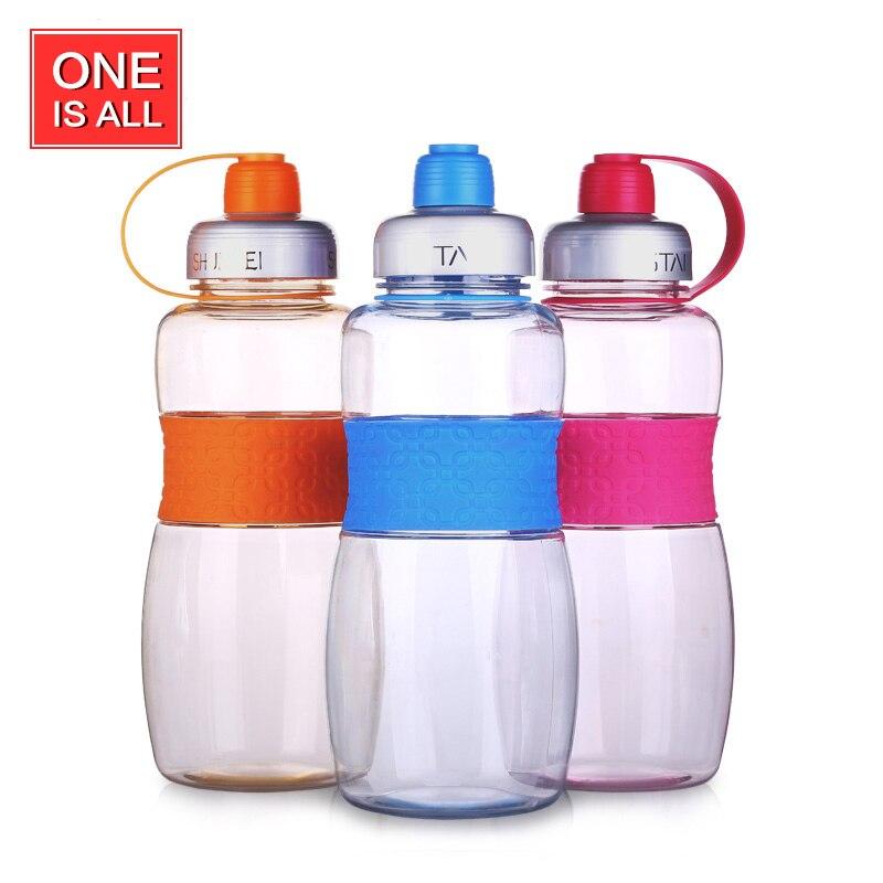 1000 ml Botella Grande de Agua de Plástico Bottl Con Cuerda Irrompible Estudiant